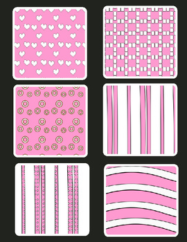 Valentines Flower Frames Clipart Plus a Set of  Freebie Paper