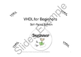 VHDL for Beginners Self-Paced Edition Package 3