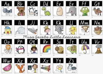 VIC Font Alphabet Posters | Cactus Theme