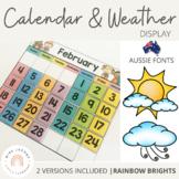 VIC Font Classroom Calendar and Weather Display {Rainbow Classroom Decor}