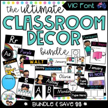 VIC Font Classroom Decor Bundle