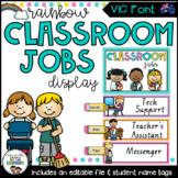 VIC Font Classroom jobs Display {Rainbow Classroom Decor}