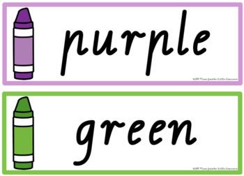 VIC Font Colour Posters {Rainbow Theme}