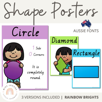 VIC Font Shape Posters {Rainbow Theme}