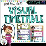 VIC Font Visual Daily Timetable {Polka Dot}