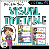 VIC Font Visual Daily Timetable {Polka Dot}