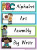VIC Font Visual Timetable {Rainbow Theme}