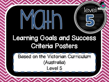 VICTORIAN CURRICULUM AU - Level 5 All MATH Learning Goals & Success Criteria!