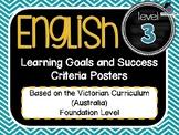 VICTORIAN CURRICULUM - Gr Level 3 All English Learning Goals & Success Criteria!