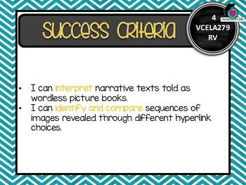 VICTORIAN CURRICULUM - Gr Level 5 All English Learning Goals & Success Criteria!