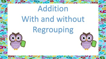 VIDEO- Addition with and without regrouping- STEPS