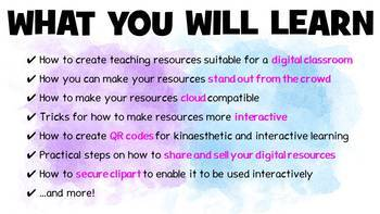 How to create digital teaching resources for distance learning - online course
