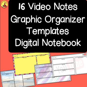 Video Note Template Worksheets Teaching Resources Tpt