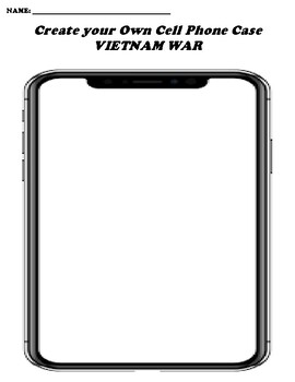 VIETNAM WAR CREATE YOUR OWN CELL PHONE COVER