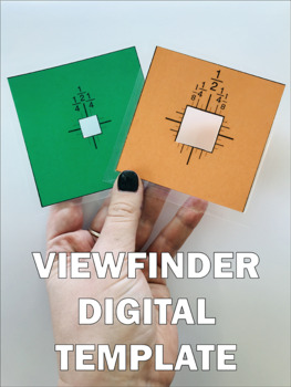"VIEWFINDER TEMPLATE [1""x1"" + .5""x.5""]"