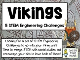 VIKINGS - Social Studies STEM - STEM Engineering Challenges, Pack of 5