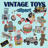 VINTAGE TOYS CLIPART, CLASS DECOR, BULLETIN BOARDS, STICKERS