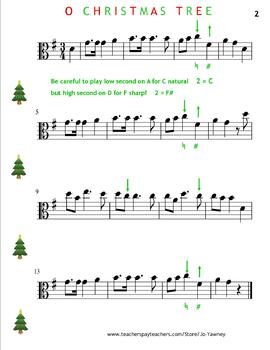 VIOLA!! ...  O CHRISTMAS TREE for young viola players in D major & G major