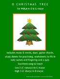 VIOLA!! ...  O CHRISTMAS TREE for young viola players in D