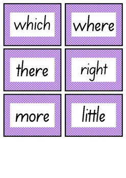 VIOLET LEVEL FLASH CARDS - FREEBIE - FIRST 100