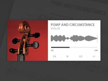 VIOLIN: Pomp and Circumstance - Sir Edward Elgar w/ MP3 Audio
