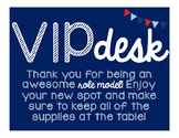 VIP Desk Posters