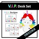 VIP Desk Set Unicorn