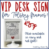 VIP Desk Sign for IKEA's Tolsby Frames