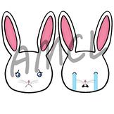 VIP Kid Demo Me Myself and I Lesson Props - Sad Bunny Emojis
