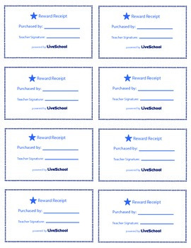 VIP Lunch Table Reward Cards