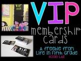VIP Membership Cards