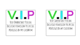 VIP Name Tag/Description Poster
