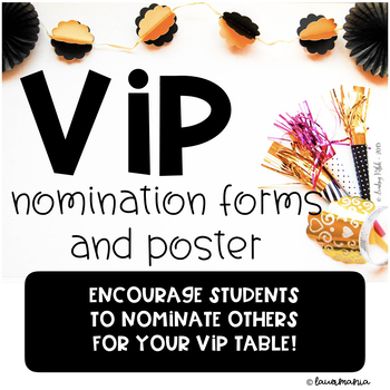 VIP Nomination Forms and Poster set