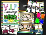 Editable VIP Package- Name Tags {Rock n Roll Theme}