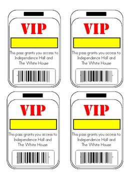 VIP Pass - US Region Tour Souviner