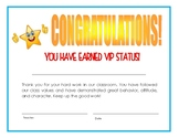 VIP Status Certificate