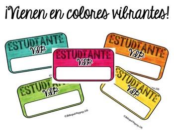 V.I.P Student Desk and Chair Nameplates [Spanish]