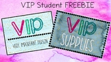 VIP Student Lanyard and Supply Label