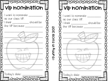 VIP Student Nomination Forms