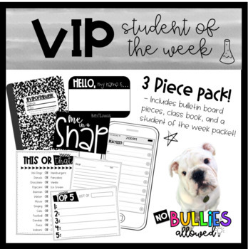 VIP Student of the Week Pack