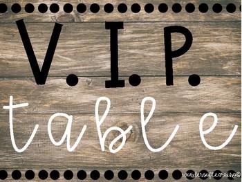 VIP Table - Burlap/Rustic Edition