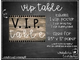 VIP Table - Burlap/Rustic Edition