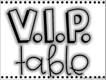 VIP Table - Colorful Edition