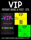 VIP Table Memory Book and Printable Post-It notes