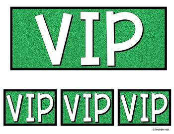 VIP Table Signs Freebie