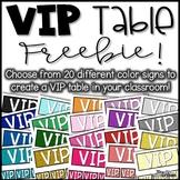 VIP Table Signs Freebie