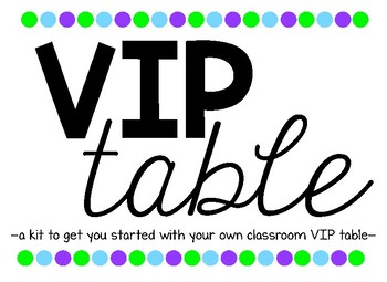 VIP Table Starter Kit
