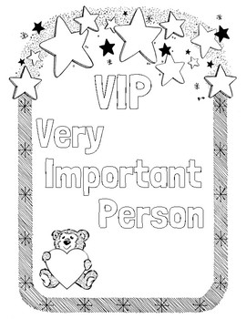 VIP Very Important Person Coloring