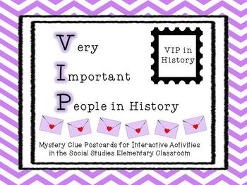 VIP in History - Activity Postcards for Elementary Social Studies Pack