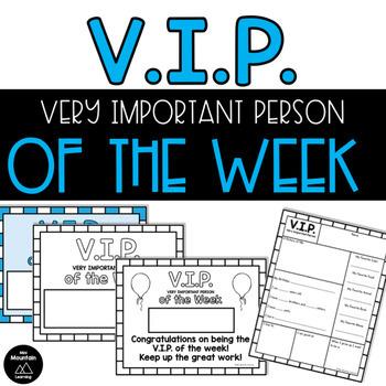 V.I.P. of the Week